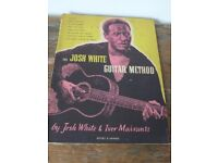 JOSH WHITE GUITAR METHOD 1956 by Josh White and Ivor Mairants. First Edition Paperback.
