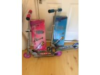 Brand new sold separately Boys & girls scooter blue & pink age 5+ ideal xmas present