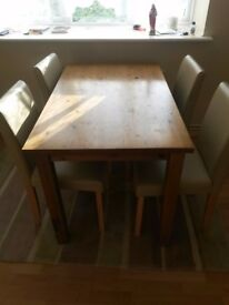 Table with four chair