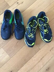 2 pairs of boys shoes