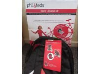 New Phil and Teds Explorer 2nd seat double kit with sun hood , instructions, box