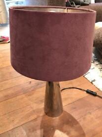 Purple faux velvet lamp shade