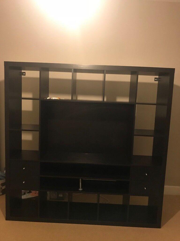 size 40 460f9 1f514 Black Ikea Kallax TV Cabinet | in Dalston, London | Gumtree