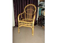 Cane chair for sale.