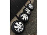 """Renault Megane Alloy Wheels 16"""" With tyres All rims with 4 like NEW tyres 4 Stud"""