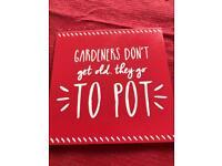 Gardeners coaster.