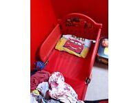 Cars toddler bed +wardrobe