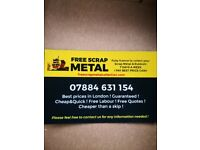 SCRAP METAL FREE COLLECTION 7DAYS AVIABLE SAME DAY COLLECTION BEST PRICE PAID £££