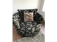 Swivel snuggle chairs x2
