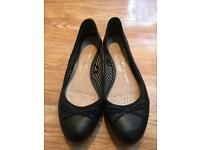 Black ballet pumps - size 5