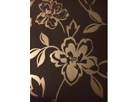 Graham and Brown Carmen Brown 6 rolls wallpaper one opened to view RRP £21 per roll