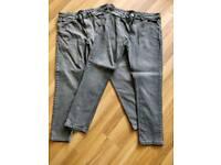 Mens slim fit jeans 38 waist 32 leg two pairs