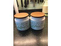 Hornsea 1970's - tea & coffee containers - Fleur