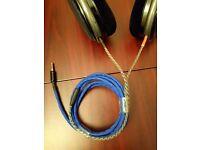 ✅ Sennheiser HD580 / HD600 / HD650 OFC Balanced TRRS Custom Audiophile Cable 1.5m ✅