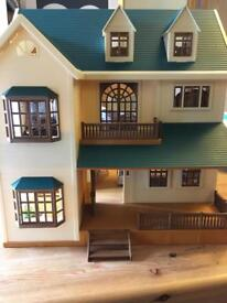 Sylvanian Family Mansion with Furniture