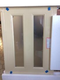 WREN Country Cream Matt frosted glass door 720x500mm. Brand New Boxed