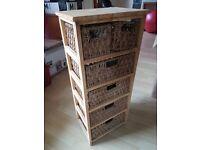 Wooden free standing storage unit