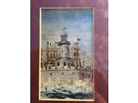 Original oil painting of Ramsgate, Kent lighthouse