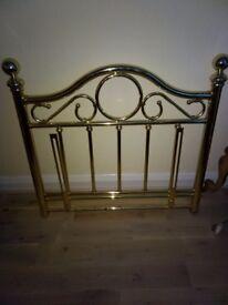 Brass single bed headboard