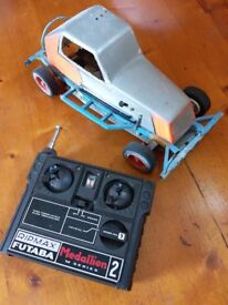 Radio controlled toy car built from a kit about 30 years ago