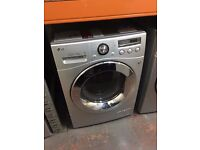 LG 8KG 1400 SPIN WASHING MACHINE SILVER RECONDITIONED