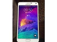SAMSUNG GALAXY NOTE 4,SM-N910F-32gb,White(UNLOCKED)smart phone.