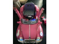 Pink battery ride on battery operated