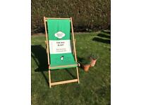 Fab garden beach deckchair chair patio furniture outdoor penguin books read book lover