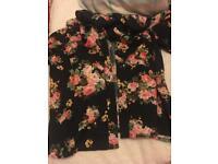 Floral button up T-shirt - Never Worn