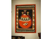 Painting Wall African Canvas Fabric+ FREE DELIVERY