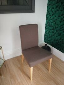 4 Ikea Henriksdal dining chairs.