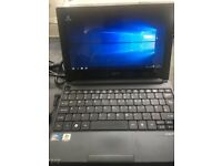 BLACK ACER ASPIRE ONE-10.1 INCH SCREEN-500 GIG HARD-2 GIG RAM-WINDOWS10-WEBCAM-FREE DELIVERY