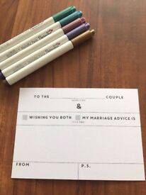 WEDDING/HEN PARTY GUEST BOOK ADVICE CARDS