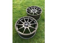 "2x Japan Racing 4x100/108 17x8.25"" ET35 JR11 - Matt Bronze Wheels"