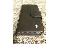 iPhone 5, 5S Premium Brown Leather Wallet Case