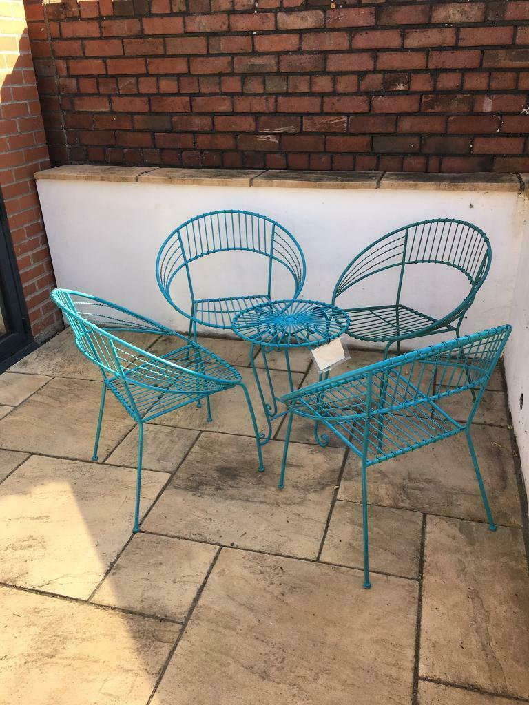 Fantastic Retro Outdoor Table And Chairs X4 In Totterdown Bristol Gumtree Interior Design Ideas Clesiryabchikinfo
