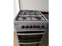 1 year old Silver BKEO gas Cooker. Electric ignitor, GAS safety cut off system. Delivery
