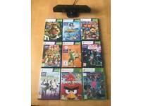Kinect sensor for Xbox 360 with 9 games