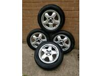 Mini alloy wheels set of 4