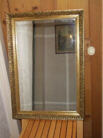 Bevelled glass wall mirror 76 x 54