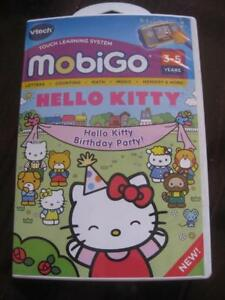 VTech Mobigo Software Learning Game Hello Kitty. Teach Memory, Counting, Simple Addition, Alphabets. Outifit for Wardrob