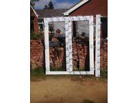 *NEW* white upvc French doors 1800 wide x 2100 height