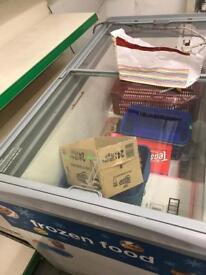 Shelf with Ice cream Fridge
