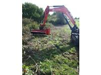 Hedge and scrub trimming. Tree shearing fencing. Digger hire