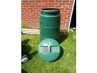 Large compost bin.