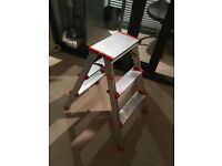 Foldable 3 step stool ladder