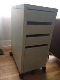 IKEA MICKE white Drawer Unit, W/Drop-File Storage