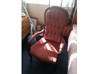 Ladies chair in pink