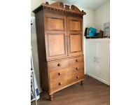 Antique oak larder cupboard.
