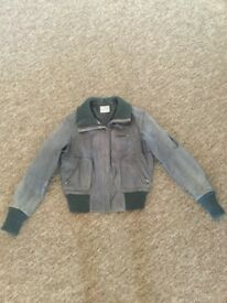 Women's REAL LEATHER Bomber Jacket Size 14